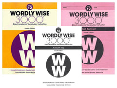 Wordly Wise 3000® 4th Edition Grade 12 SET -- Student Book, Test Booklet and Answer Key (Direct Academic Vocabulary Instruction)