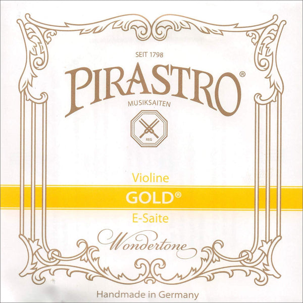 Pirastro Gold Label 4/4 Violin E String - Medium - Steel - Loop End