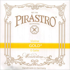Pirastro Gold Label 4/4 Violin E String - Medium - Steel - Ball End
