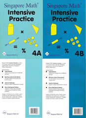 Singapore Math: Grade 4 Primary Mathematics Intensive Practice 4A & 4B