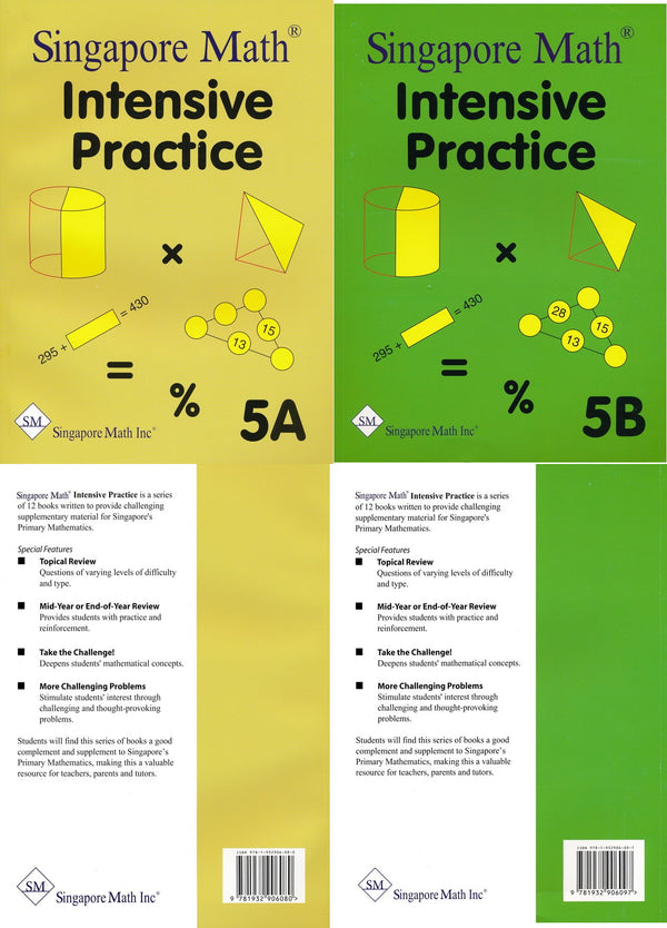 Singapore Math: Grade 5 Primary Mathematics Intensive Practice 5A & 5B