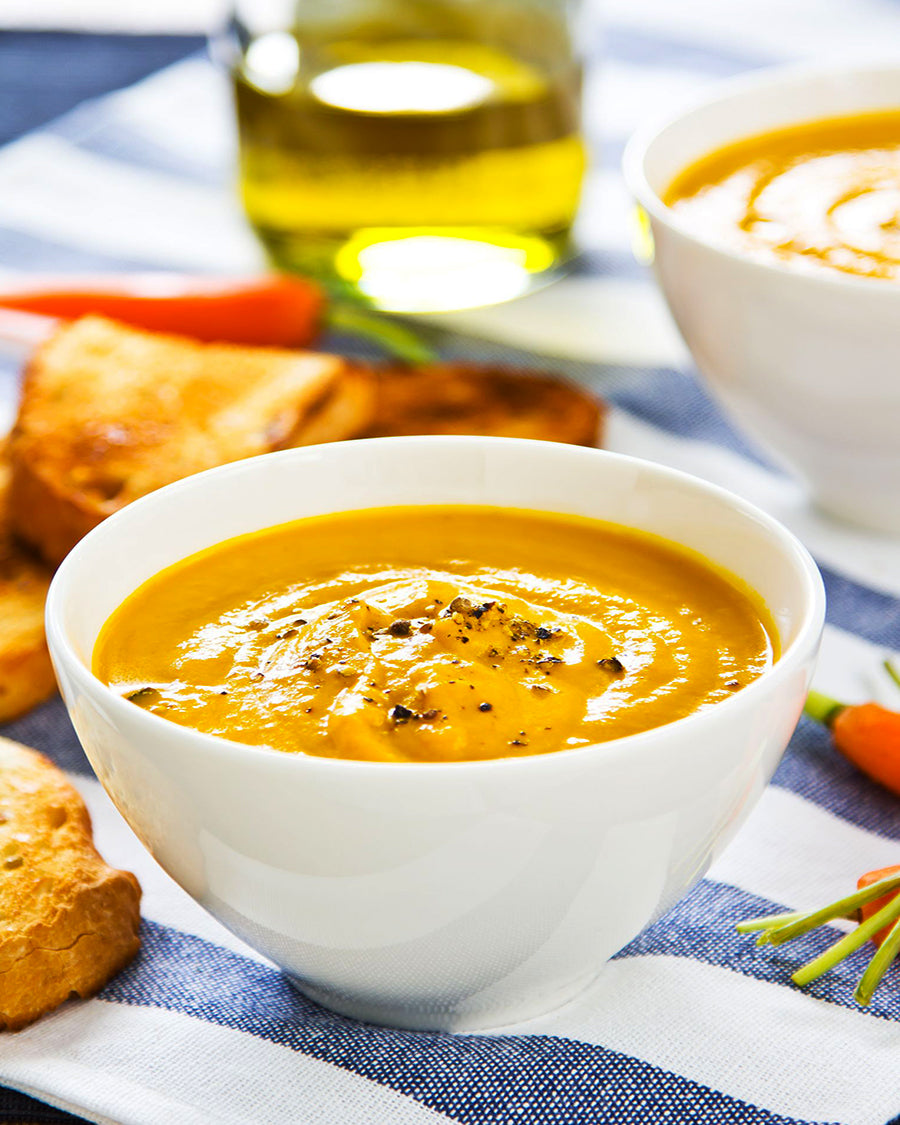 Carrot soup with curry