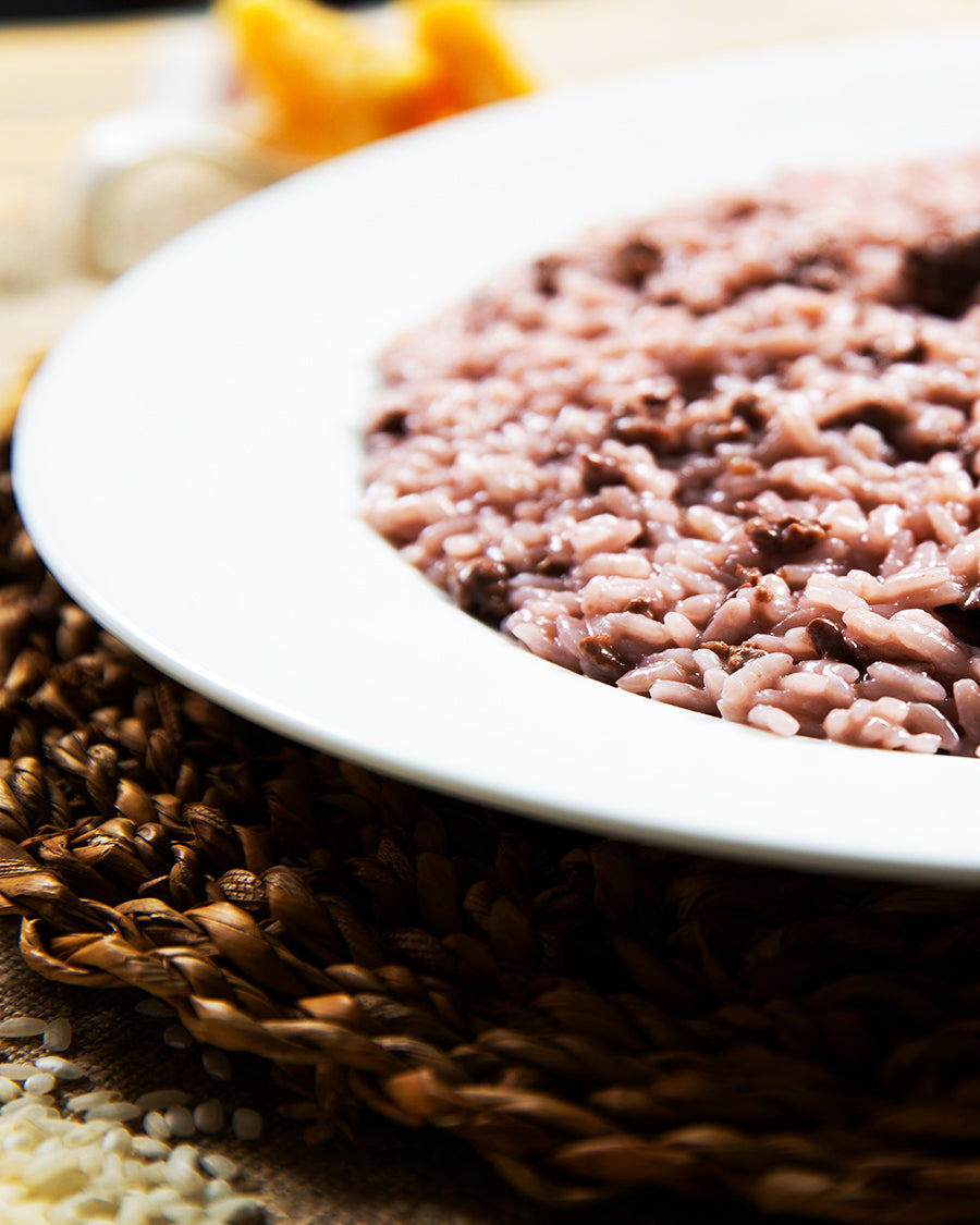 Risotto with sausage and Barbera wine