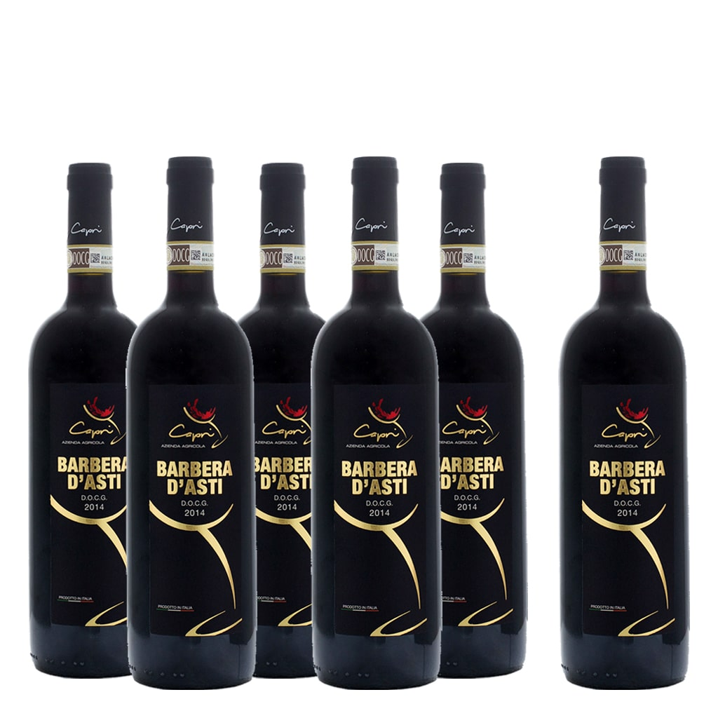 Barbera d'Asti DOCG 6 bottle Case - ilikeitalianfood