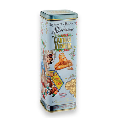 Almond Cantucci Tuscan Cookies in a Tin Box - ilikeitalianfood