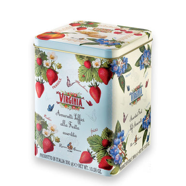 Assorted Soft Fruit Amaretti Cookies in a Tin Box - ilikeitalianfood
