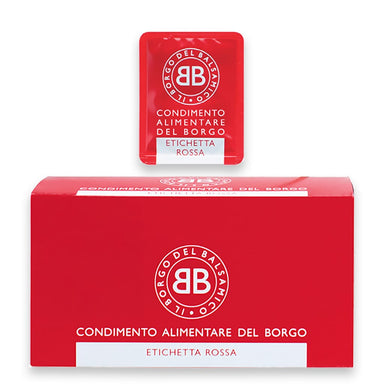 Condimento del Borgo  Balsamic Vinegar based Seasoning  Red Label (50 Single Serve Packets) - ilikeitalianfood