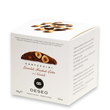Extra Dark Chocolate and IGP Piemonte Hazelnuts Cantuccini  Tuscan Cookies - ilikeitalianfood