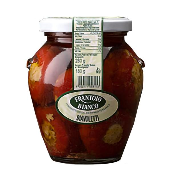 Italian Hot Cherry Peppers stuffed Diavoletti 280g