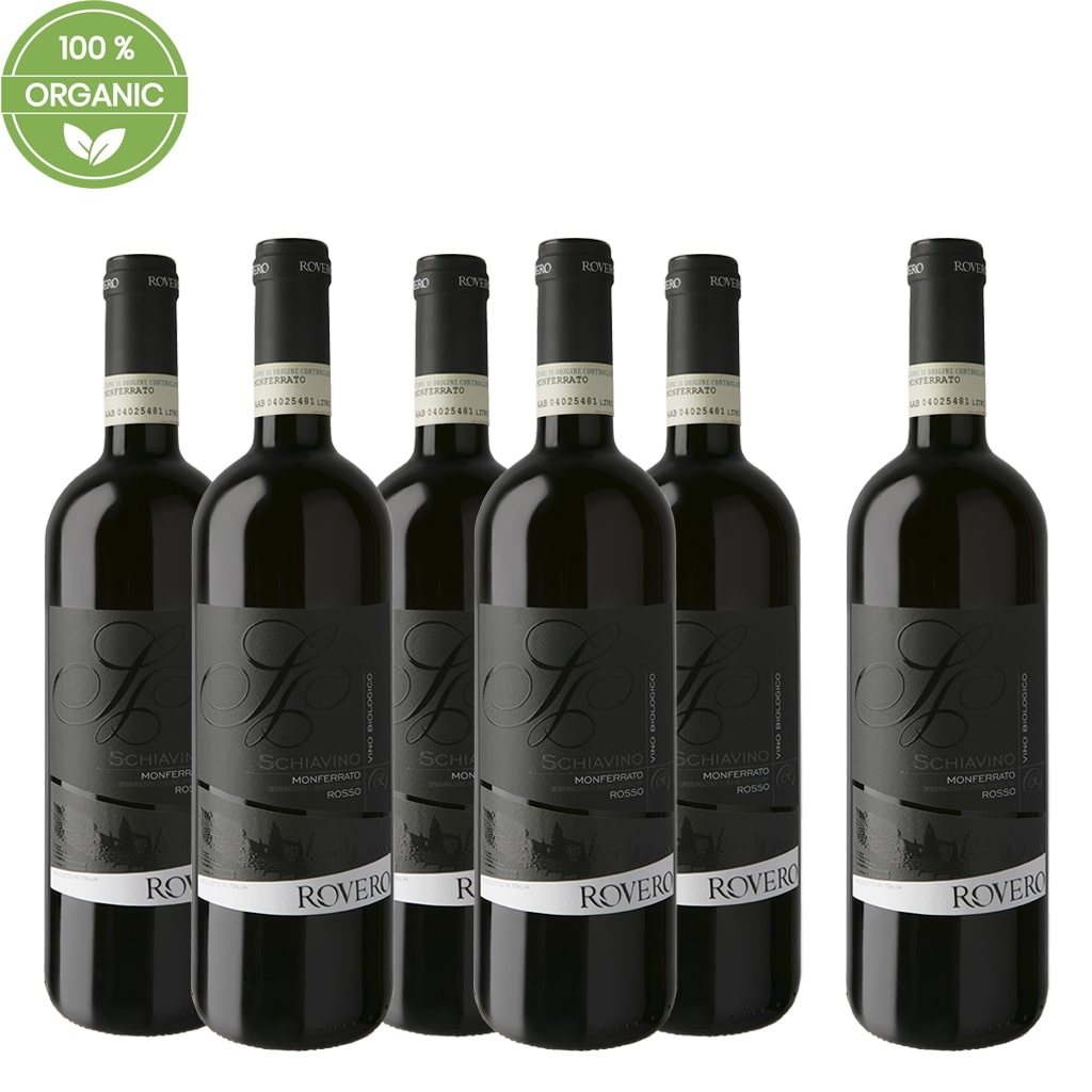 "Monferrato DOC Organic ""Schiavino"" 6 bottle Case"