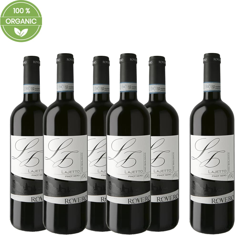 "Pinot Nero DOC Organic ""Lajetto"" 6 bottle Case - ilikeitalianfood"