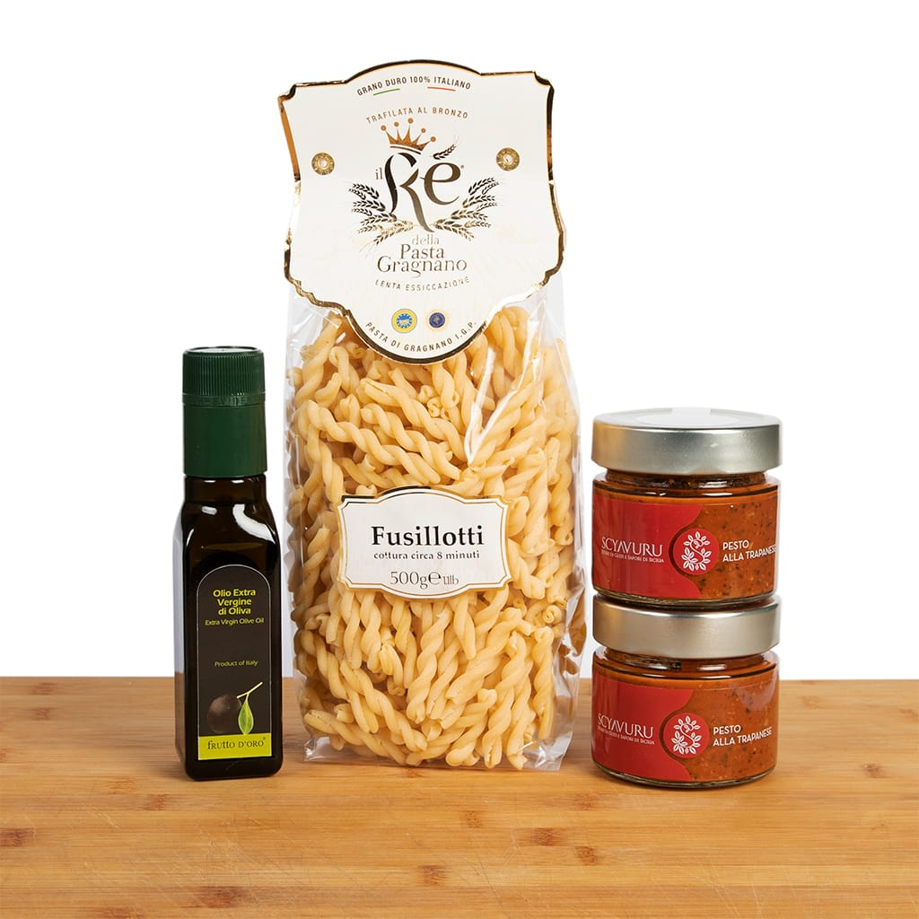 Fusillotti con Pesto Trapanese box - ilikeitalianfood