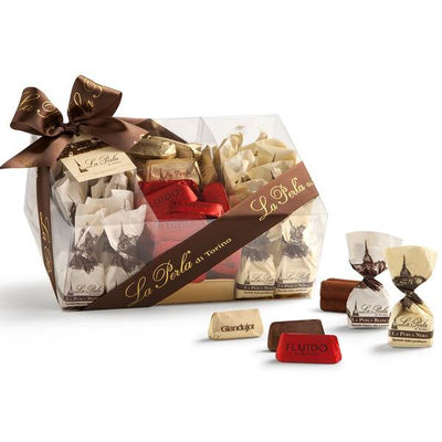 Gift box assorted Chocolate Truffles and Gianduiotti 800g