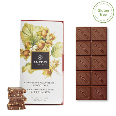 Milk Chocolate bar with Langhe Hazelnuts - ilikeitalianfood