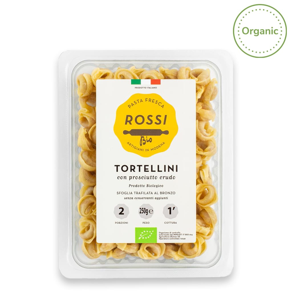 Organic Tortellini with Cured Ham - ilikeitalianfood