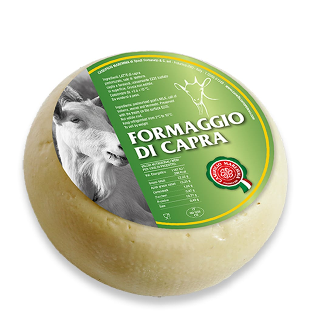 Italian pure goat cheese from Tuscany Caseificio Maremma
