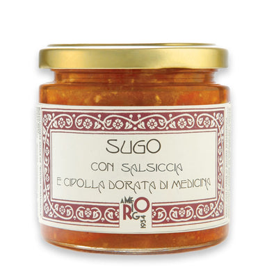 Golden onion Medicina IGP and sausage sauce - ilikeitalianfood