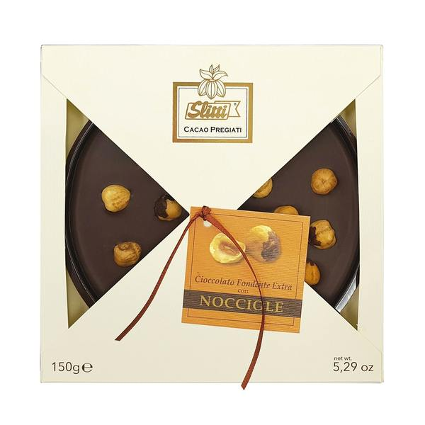 Italian Chocolate Bar With Extra Dark Chocolate And TGT Piemonte Halsenuts 150g