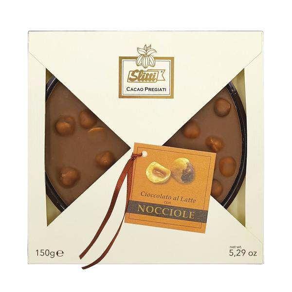 Italian Chocolate Bar With Milk Chocolate And Piemonte TGT Hazelnuts 150g