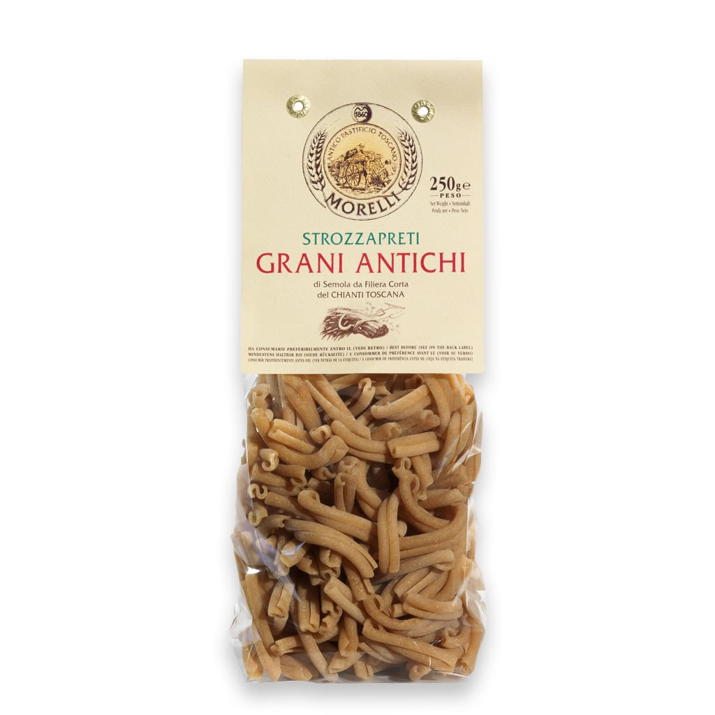 Italian strozzapreti ancient wheats Antico Pastificio Morelli