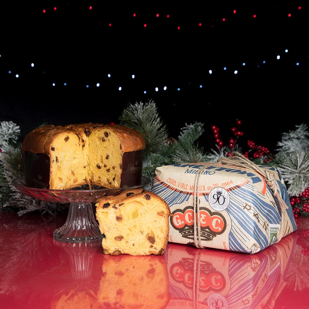 Traditional Panettone Brera Milano hand-wrapped - ilikeitalianfood