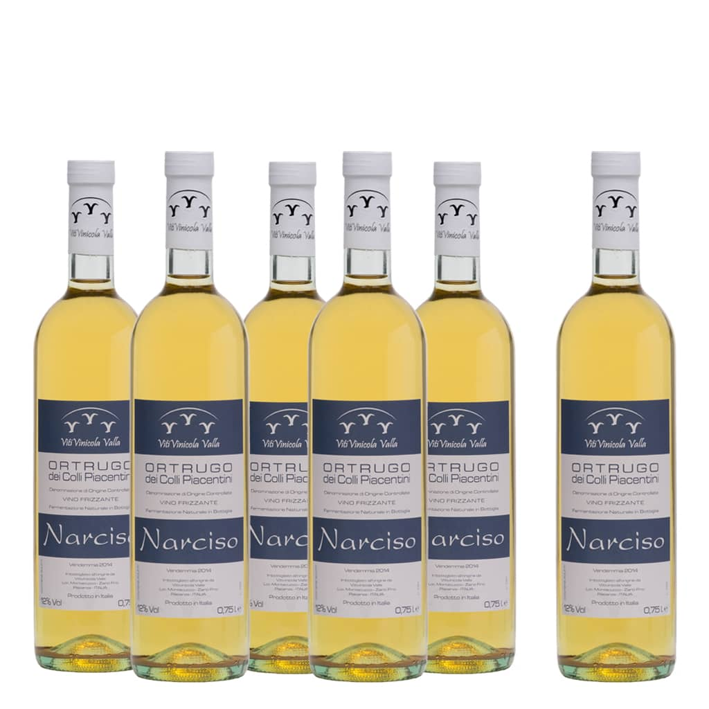 "Ortrugo dei Colli Piacentini DOC ""NARCISO"" 6 bottle case - ilikeitalianfood"