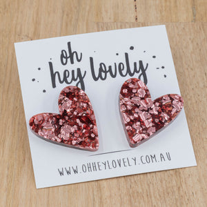 'Sweet Heart' Statement Stud Earrings