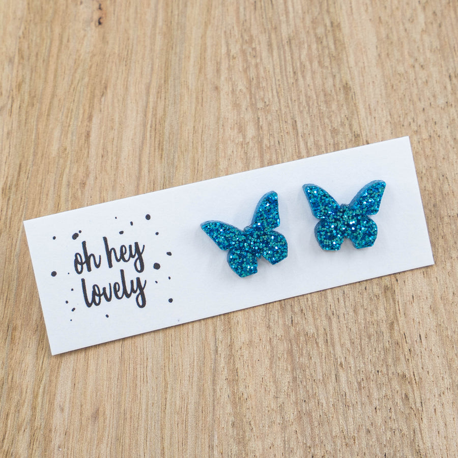 'Blue Butterfly' Mini Stud Earrings