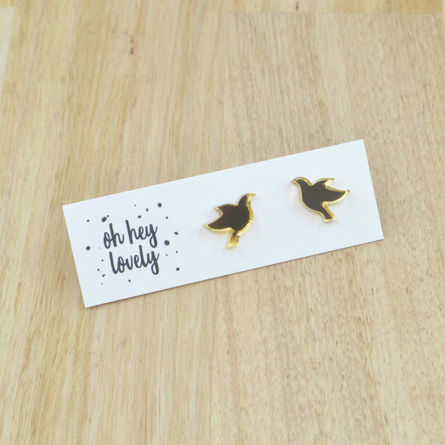 'Turtle Dove' Mini Stud Earrings