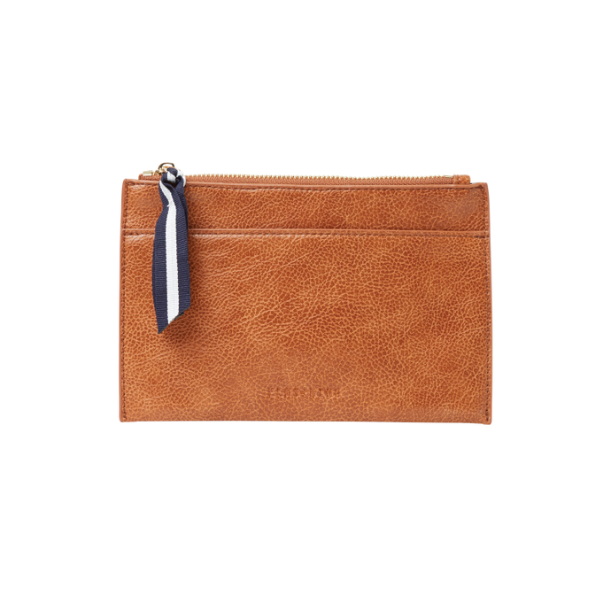Elms + King New York Coin Purse - Tan Pebble