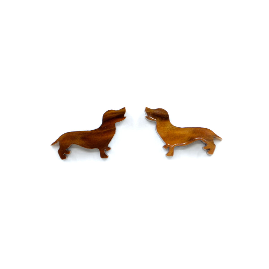 'Bonnie the Dachshund' Mini Stud Earrings