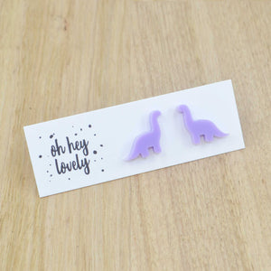 'Brontosaurus' Mini Stud Earrings
