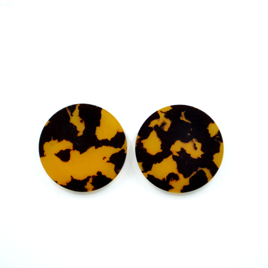 'Full Moon - Leopard' Statement Stud Earrings