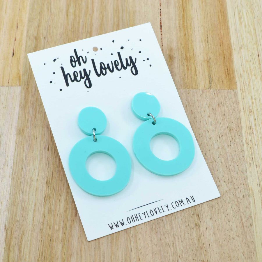 'Loopsy - Mint' Dangle Earrings