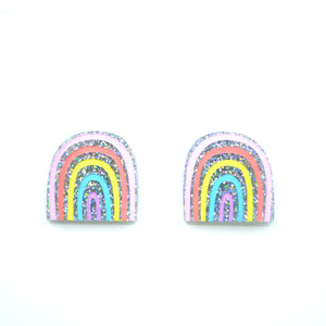 'Pastel Rainbow' Statement Stud Earrings