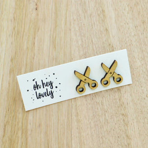 'Snip Snip' Mini Stud Earrings