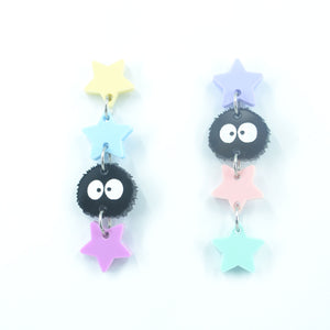 'Soot Sprite' Dangle Earrings