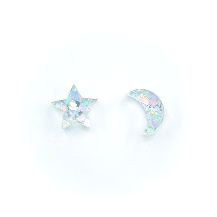 'Star + Moon' Mini Stud Earrings