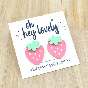 'Strawberry Fields' Statement Stud Earrings