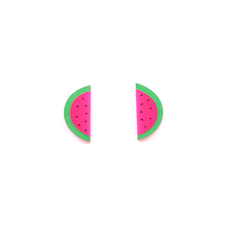 'Sliced Watermelon' Mini Stud Earrings