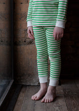 Sleepy Doe - Long Sleeved Oatmeal and Green stripe