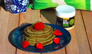 SUPA MEGA GREEN PANCAKE RECIPE  (By Chef Lauren Von Der Pool)