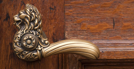 Brass Door Furniture Comes Back into Fashion