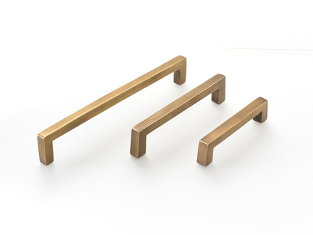 Round bar brass drawer handles. 12 inches long, supplied with fitting screws. 4 size options available .