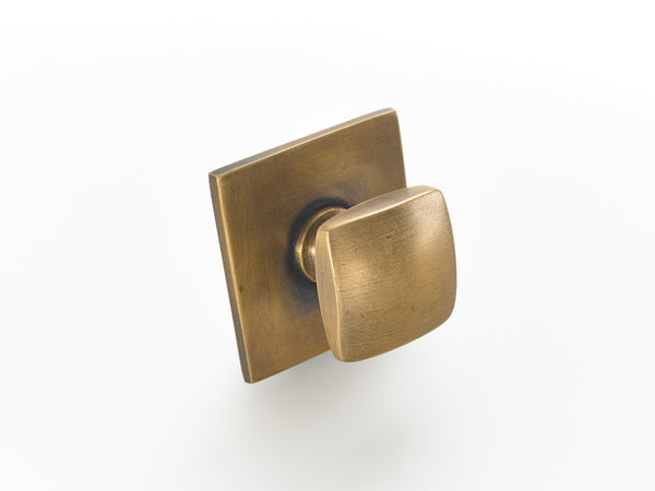 "1.5"" square brass Kitchen handles. Unique brass hardware perfect for a kitchen makeover"