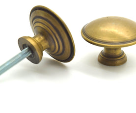 Gorgeous simple brass drawer knobs. Solid brass. Mix and match with other hardware | The Foundryman.