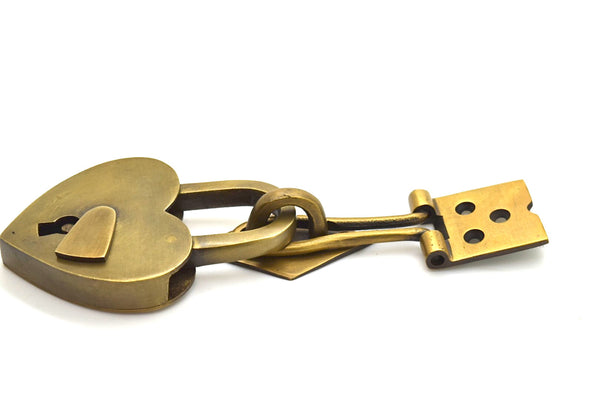 Brass padlock keep. Pair it with one of our padlocks for a great look. By The Foundryman