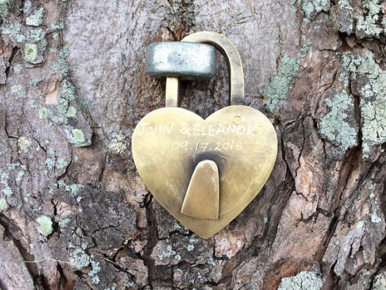 Brass love heart padlock . Great wedding piece, or love lock for the bridge proposal . 2 sizes and supplied with keys - working locks