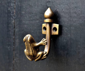 Gorgeous Brass frog themed wall and door hooks. Great for kids bedrooms , coat racks and rails.