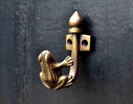 Brass hooks. Fish design. Unique brass hardware from TheFoundryman.